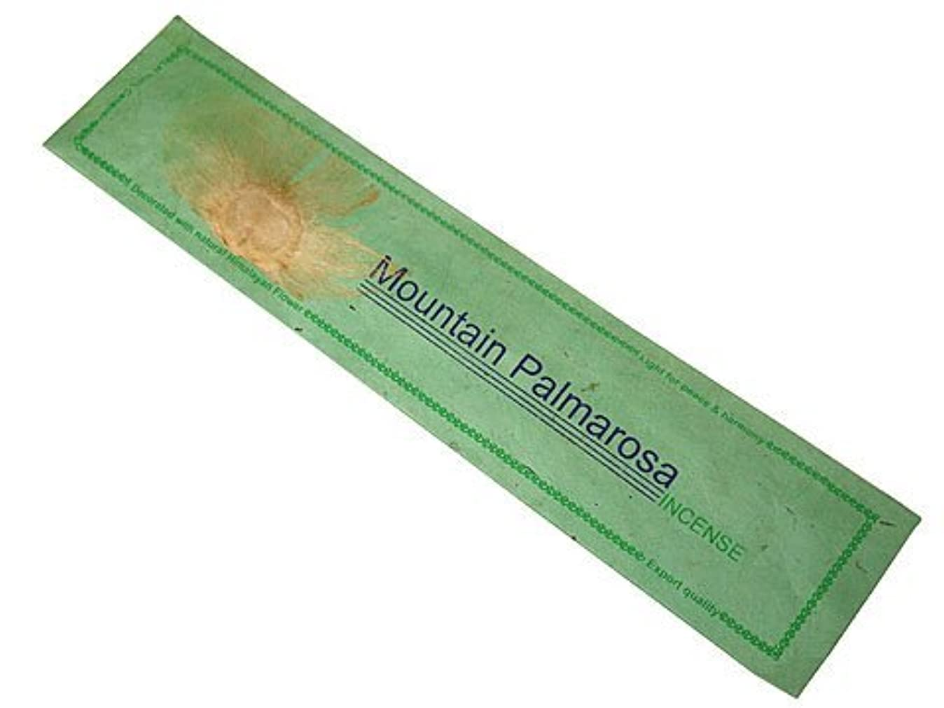 コントラスト見てかもしれないNEPAL INCENSE ネパールのロクタ紙にヒマラヤの押し花のお香【MountainPalmarosaマウンテンパルマローザ】 スティック