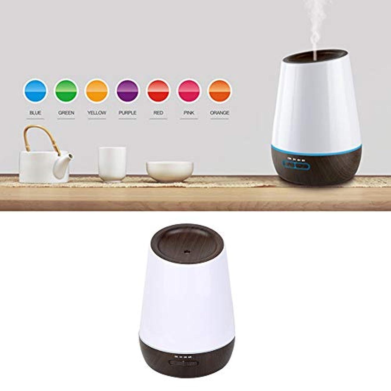アロマエッセンシャルオイルディフューザー付き7色led 500ミリリットルクールミスト加湿器寝室リビングルーム研究ヨガスパ(100?240V)