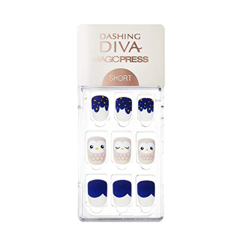 宿る付ける累計ダッシングディバ マジックプレス DASHING DIVA MagicPress MDDR226SS-DURY+ オリジナルジェル ネイルチップ Owl Star