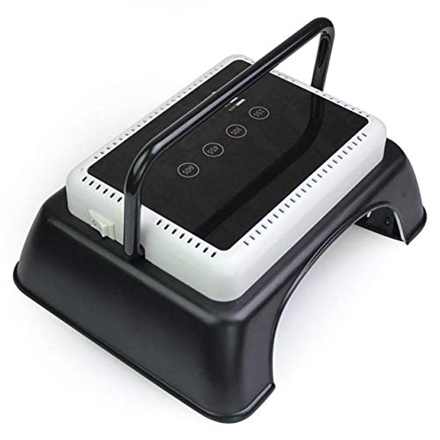 桃寄稿者車両持ち上がるハンドル、タッチセンサー、LCDスクリーンが付いているゲルのマニキュアマニキュア用具のための専門64W LED紫外線釘LampNailのドライヤーライトハイパワー
