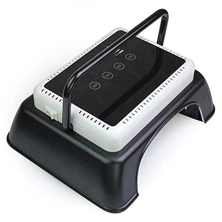 負分注するれる持ち上がるハンドル、タッチセンサー、LCDスクリーンが付いているゲルのマニキュアマニキュア用具のための専門64W LED紫外線釘LampNailのドライヤーライトハイパワー