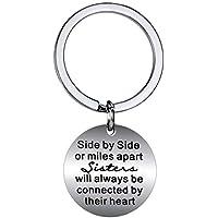 BESPMOSP Sister Best Friend Keychain Charm Pendant Keyring Family Jewelry Birthday Christmas Gift