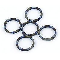 TISUR (Ti) チタン合金 キーリング 軽量 外徑10/12/14mm 10個入り または 外徑25mm/32mm 5個入りキー ホルダー カラー