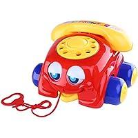 ベリーPresident ( TM ) Classic Pull Toy :プラスチックChatter Telephoneプッシュプルおもちゃ車幼児用ベビー用 – レッド