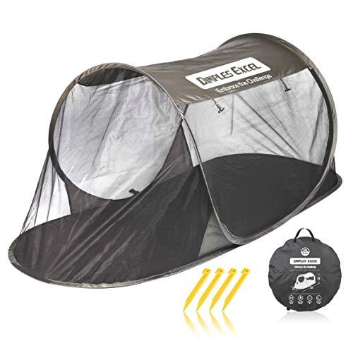 シングルワンタッチ蚊帳 ポップアップ蚊帳テント アウトドア蚊帳 アウトドアモスキートネット (ダークグリーン)