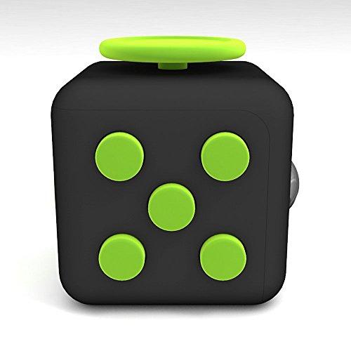 Fidget Cube ストレス解消キューブ ポケットゲーム (Black Green)