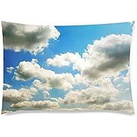 可愛い 子供 空と雲 座布団 50cm×72cm