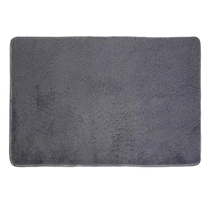 十分に黙認する賢いふわふわの敷物の家の居間の寝室のカーペットの滑り止めの毛むくじゃらの区域の敷物の床のマットの極度の柔らかい屋内滑らかな床の敷物80x160cm-灰色80 * 160cm