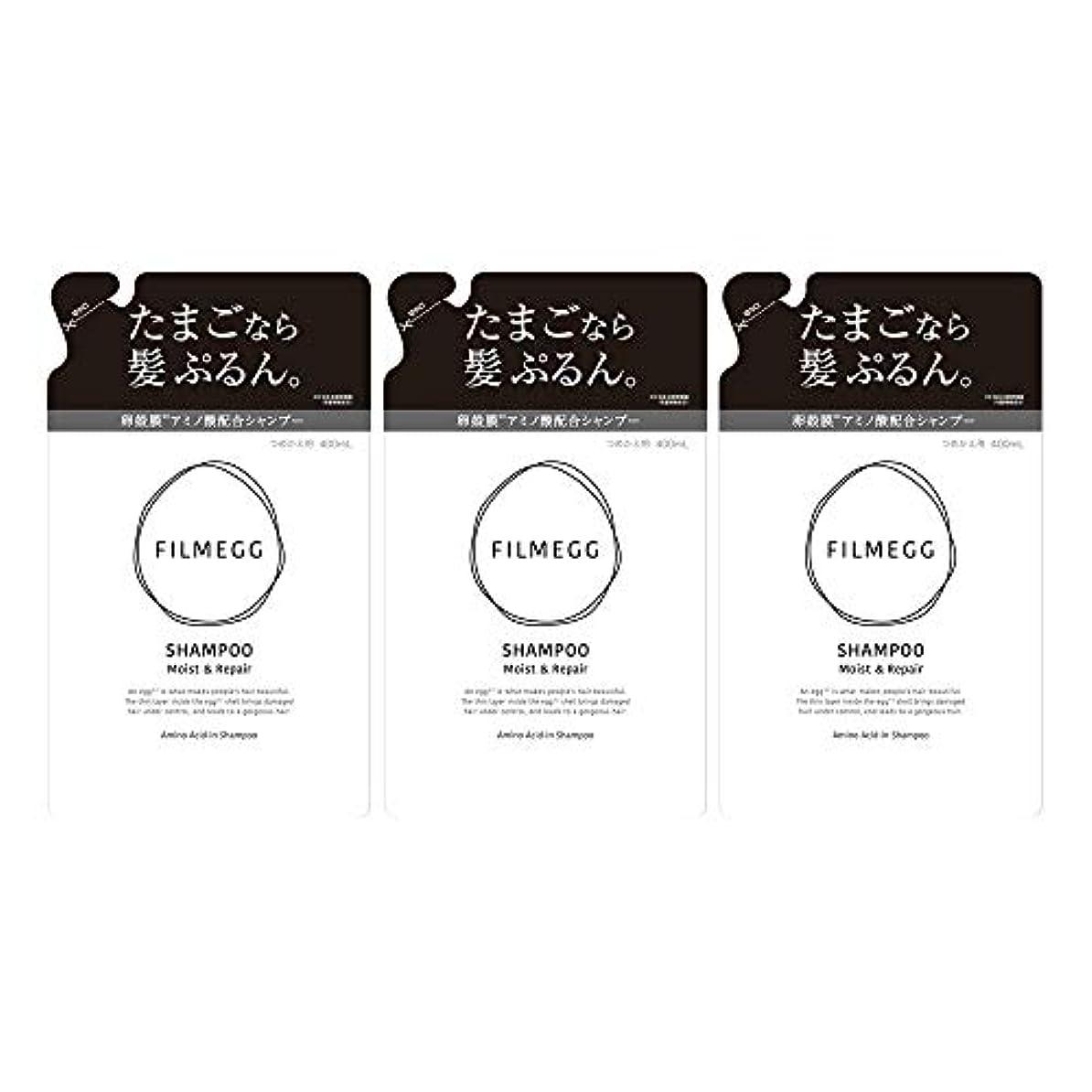 トライアスロン解決する炭水化物【3個セット】FILMEGG(フィルメッグ) シャンプー 詰替え 400ml