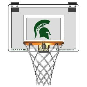 Door Mounted Mini Basketball Hoop - Mini Collegiate Hoop - Michigan State University