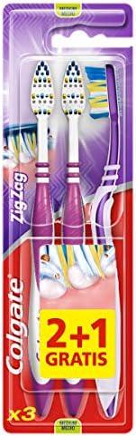 Colgate ZigZag Deep Interdental Clean Toothbrush Medium Value, 3 Pack