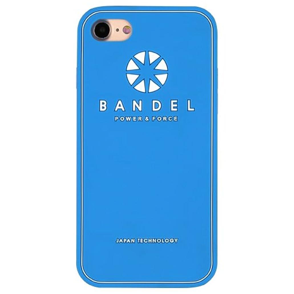 限られた市の中心部シロナガスクジラバンデル(BANDEL) ロゴ iPhone 8専用 シリコンケース [ブルー×ホワイト]