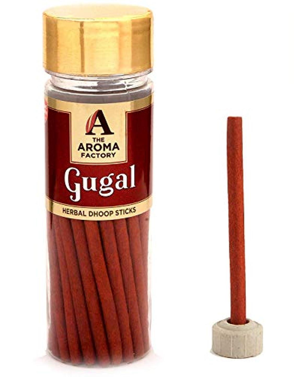 圧縮された腹部冷凍庫Aroma Pure Gugal Dhoop Pooja Dhup batti [Free Stand] (Bottle Pack x 40 Sticks)