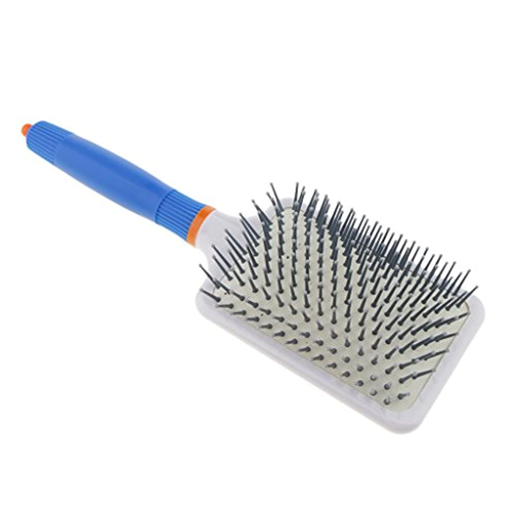 トレイル有益高架Homyl 頭皮マッサージ ヘアブラシ 櫛 ヘアコーム エアバッグ櫛 静電気防止 便利 濡れ髪適用 全2色 - ダークブルー
