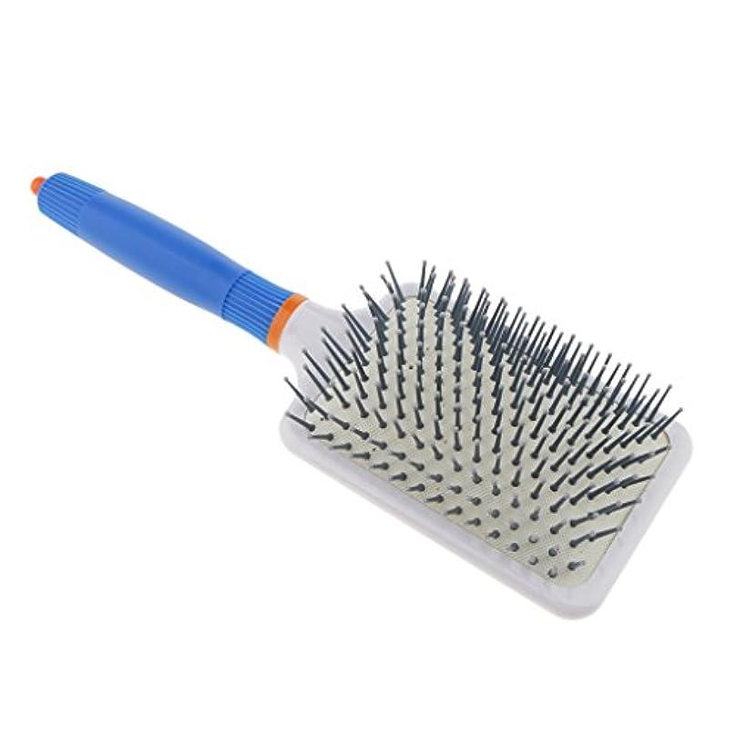 レキシコン安全でないかろうじてHomyl 頭皮マッサージ ヘアブラシ 櫛 ヘアコーム エアバッグ櫛 静電気防止 便利 濡れ髪適用 全2色 - ダークブルー