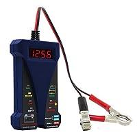 MOTOPOWER MP0514B 12Vデジタルバッテリテスタ電圧計および充電システムアナライザ(LCDディスプレイおよびLED表示付き)- 青