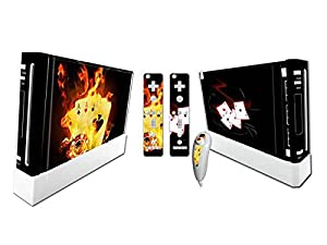 Nintendo Wii Skin Design Foils Faceplate Set - Burning Cards Design