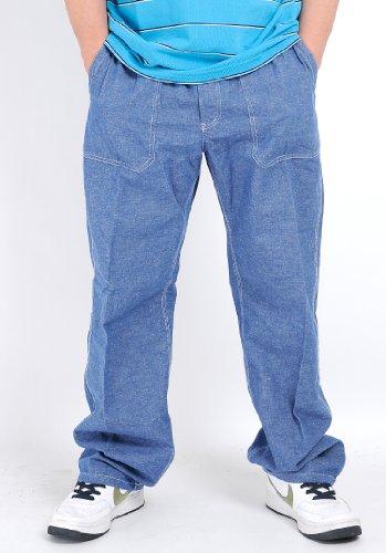 大きいサイズ メンズ 2L 3L 4L 5L パンツ/麻混 ベーカー イージー パンツ スミス アメリカン
