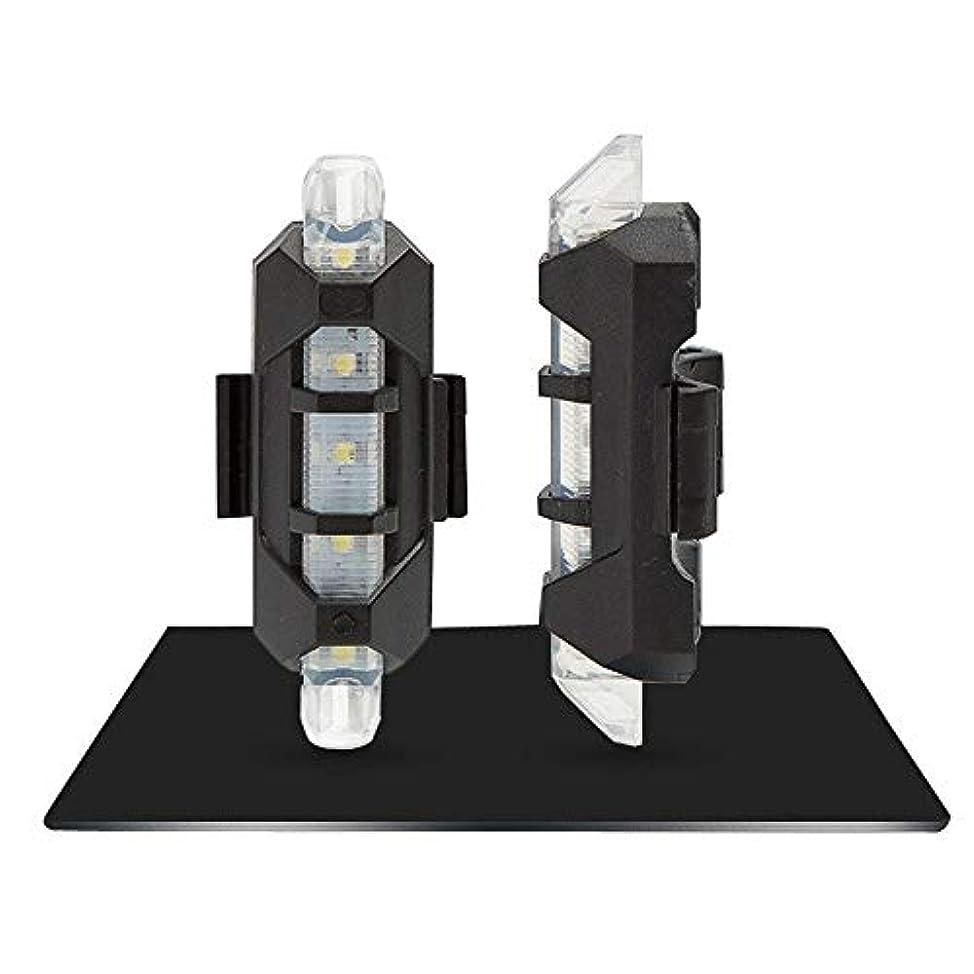 敷居ささいなコンサルタントZreaw 自転車用ライトUSB充電式自転車用ライトフロントおよびリアテールライト5 LED 3モードリア自転車フラッシュ安全警告灯(1台)グレア自転車用ライト防水自転車用ライト長寿命 (Color : WHITE)