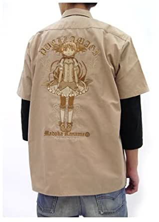 劇場版 魔法少女まどか☆マギカ [新編]叛逆の物語 鹿目まどか刺繍ワークシャツ セピアトーンver. ベージュ サイズ:L