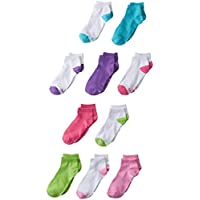 Hanes Girls' 10-Pack Low-Cut Socks