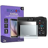2x Mikvon AntiSun Canon PowerShot A1400対応 画面保護フィルム アクセサリー付きのリテールパッケージ