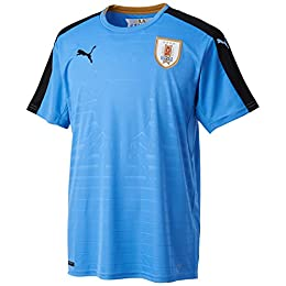 (プーマ)PUMA サッカー ウルグアイ ホーム レプリカ半袖シャツ 749035 [メンズ] 01 シルバーレークブルー/ブラック/ヴィクトリーゴールド S