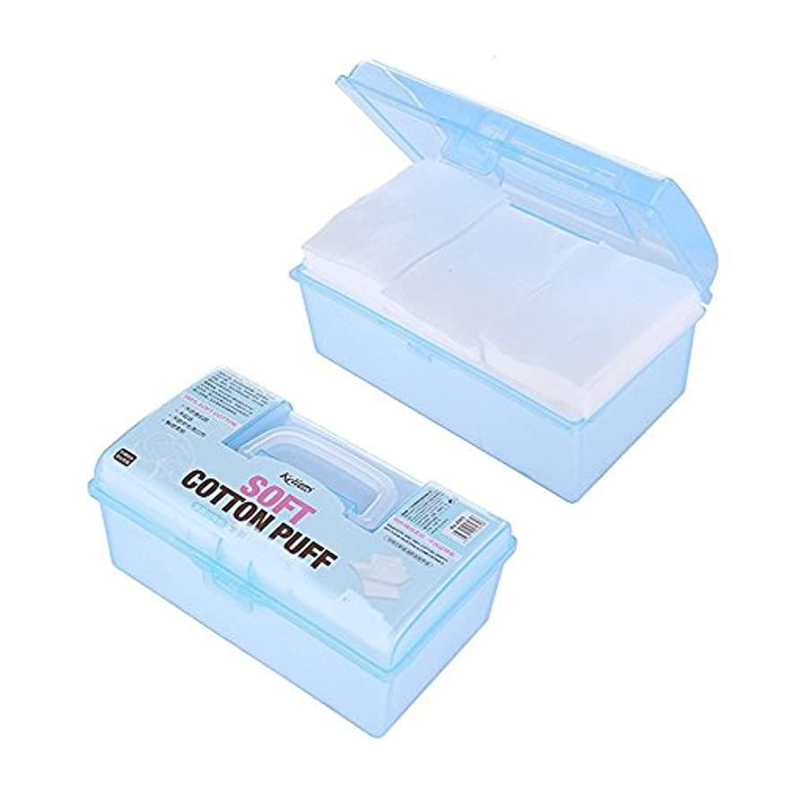ヒューズ狭いに応じてAorunji 柔らかい オーガニックコットンコスメティックパッド高品質リントフリーフェイシャルメイクリムーバークリーニングコットンベストトラベル(Appr.500pcs)