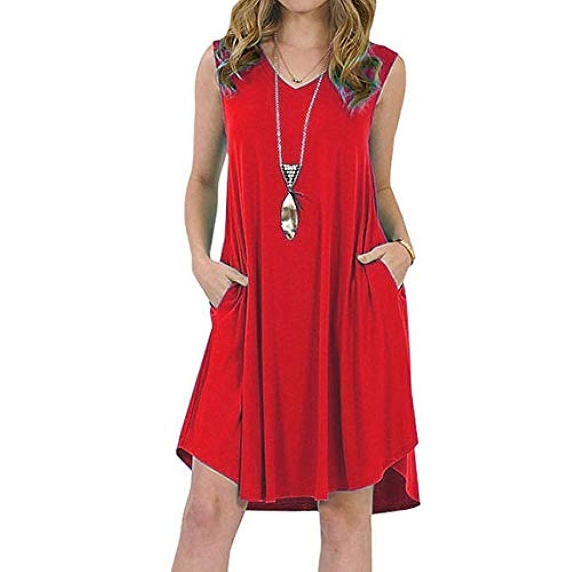 幻想追い付く粉砕するMIFAN の女性のドレスカジュアルな不規則なドレスルースサマービーチTシャツドレス