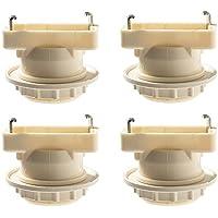 引掛シーリング用 電球ソケット ランプソケット E26口金 角型引掛シーリングアダプター led対応 ペンダントライト 1灯 天井照明 裸電球 照明器具 4個入り