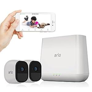 NETGEAR クラウド ネットワークカメラ Arlo Pro スターターキット (カメラ2台 + Proベースステーション) VMS4230-100JPS