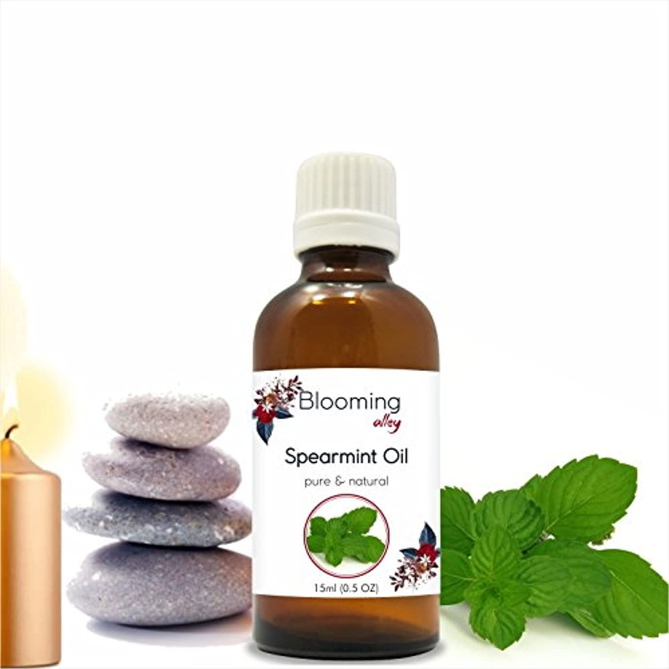 メイド畝間瞑想するSpearmint Oil(Mentha Spicata) Essential Oil 15 ml or .50 Fl Oz by Blooming Alley