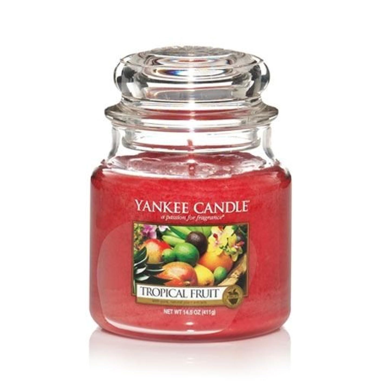知的本物のブレンドYankee Candle 14.5 Oz Jar Candleトロピカルフルーツ