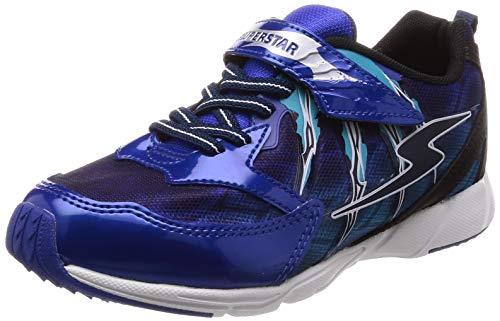 [スーパースター] 運動靴 通学履き 17cm~24.5cm 0.5cm対応 キッズ SS J890 ブルー 18.5 cm 2E