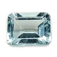 jewelryonclick 2.75カラット正方形天然ブルートパーズルース宝石