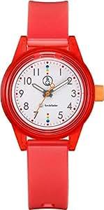 [キューアンドキュー スマイルソーラー]Q&Q SmileSolar 腕時計 ソーラー アナログ マッチングスタイル 10気圧防水 直径32mm レッド RP29-011 レディース