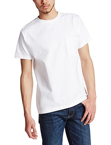 BEAMS Tシャツ GOODWEAR POCKET T-SHIRT メンズ White L