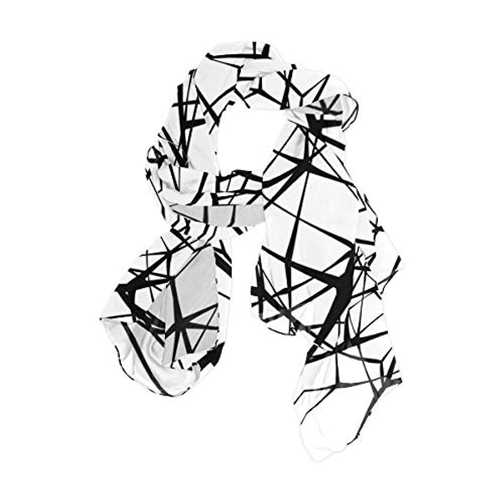 死んでいるヘアいっぱいユサキ(USAKI) スカーフ レディース 大判 格子 チェック柄 芸術 ストール 春夏秋冬 UVカット 冷房対策 シルク 肌触り ショール パーティー 90×180cm