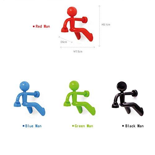 zhihu 人型マグネットキーホルダー 強力 磁石 キーホルダー 鍵かけ 鍵フック キープレート キーマン カギ (青)