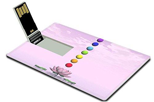 Liili 4GB USBフラッシュドライブ2.0メモリスティッククレジットカードサイズカラフル球のチャクラupon美しいリリーフラワーbyピンクDay 28605517 Liili Inc