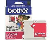Brother DCP MFC 230130、330C、350C、Fax 1360、1860、1960C、2480C、2580C、C、240C、440CN , 465CN、665CW、685CW、845CW、885CW、3360C、5460CN、5860CNマゼンタインクカートリッジ( 400Yield、部品番号lc51m