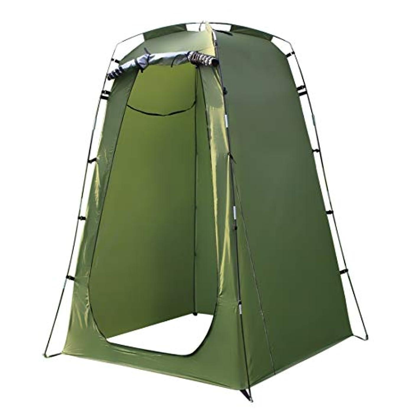 再発する前兆お風呂防水屋外10トン ルームのためのキャンプトイレシャワービーチ耐UVを変更するシャワー6FTプライバシー屋外ポータブルシャワートイレキャンプのテント (Color : Green)