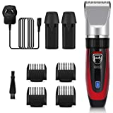 GHB Hair Clippers Hair Trimmer Haircut Kit Ceramic Blade Cordless Rechargeable with Extra Battery and AU Plug