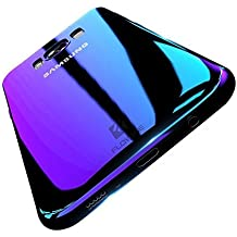 Samsung S8 Case, FLOVEME Ultra Thin Electroplating Gradual Colorful Gradient Change Color Slim Fit Hard Back Cover Clear Hard Bumper for Samsung Galaxy S8 - Transparent Purple