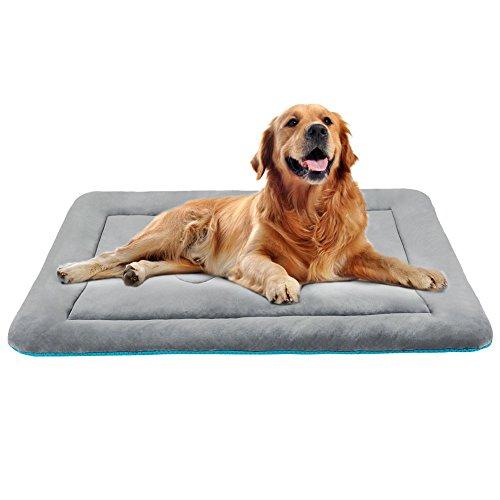 Hero Dog ペットベッド 犬 ペットマット 冬 クッション 防寒 滑り止め 洗える フカフカ 暖かい(グレーグリーン L)