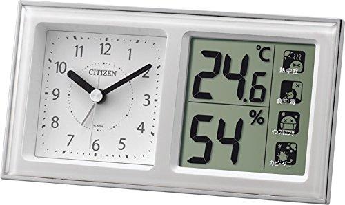 CITIZEN (シチズン) 温湿度計 ライフナビ648A アナログ 時計 付き ホワイト 8RE648-A03