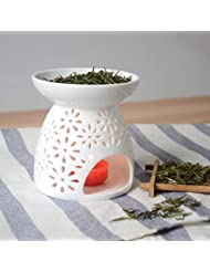 Hwagui 芳香器 アロマバーナー 茶 香炉 陶磁 中空の彫刻工芸 アロマ 炉