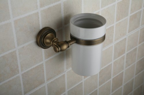 Home Built Hiendure Antique Finish Wall-Mounted Toilet Brush Holder