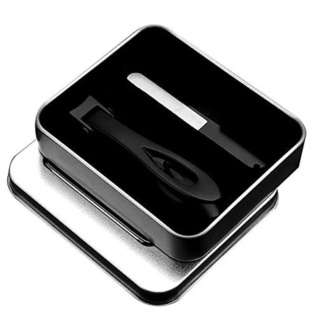 受賞集計同封する鋭いハサミステンレス鋼ネイルクリッパーネイルファイルのスーツネイルクリッパー顎完全に開いた黒い爪のツール2