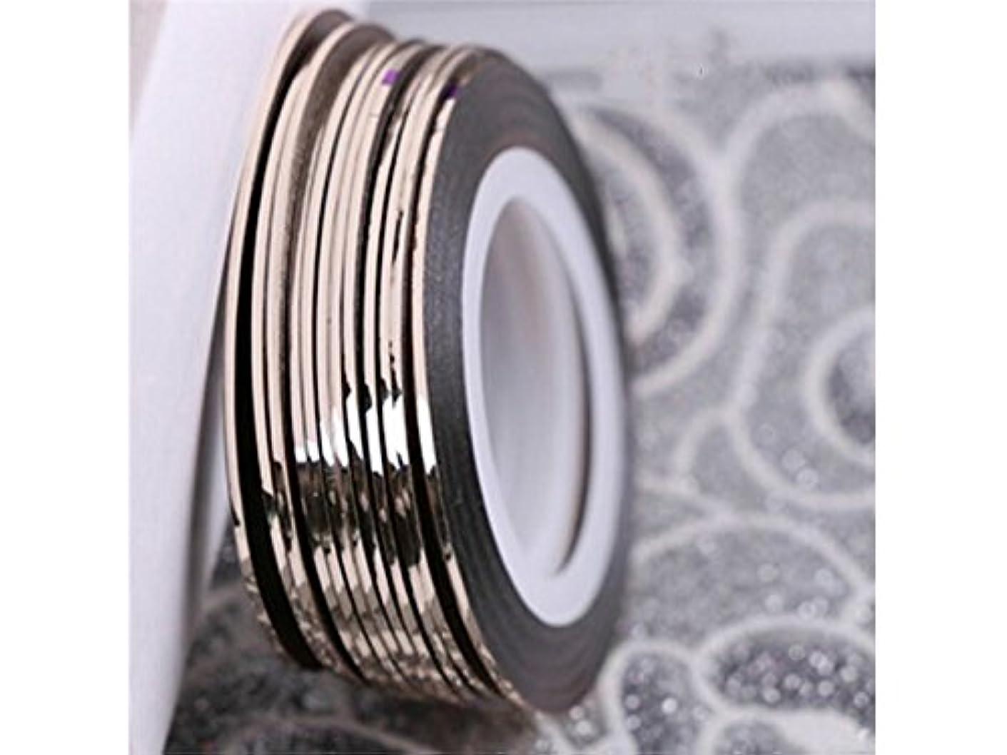 司書野心的現代Osize 3Dクリスタルラインストーングリッターネイルアート装飾合金ネイルアートのヒントDIYネイルアート装飾アクセサリー(銅)